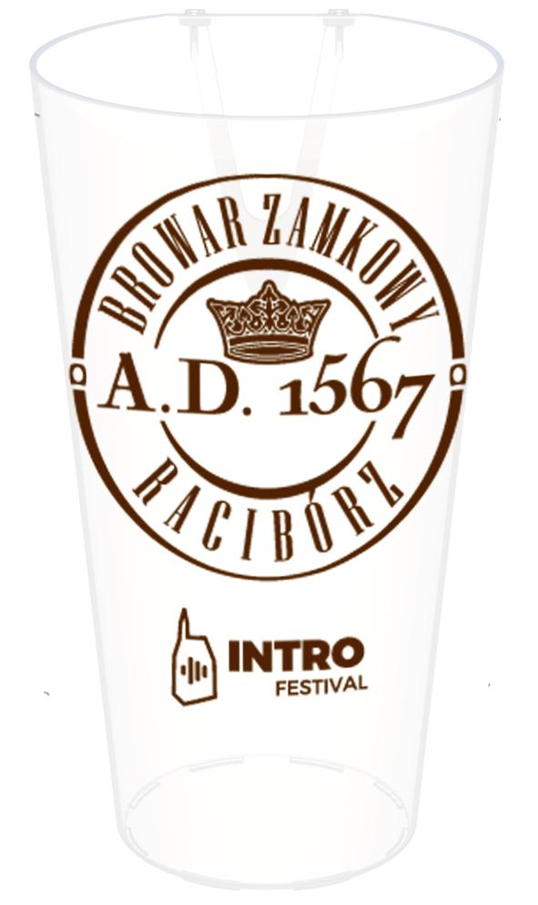 Wizualizacja przedprodukcyjna ekokubka Browaru Zamkowego w Raciborzy oraz Festivalu Intro